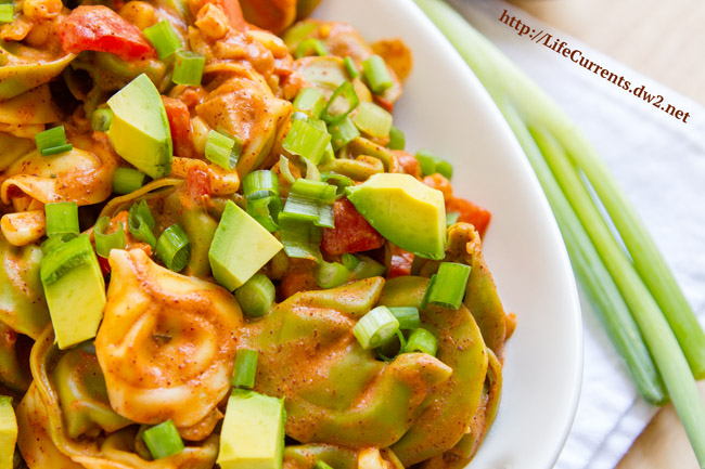 Enchilada Pasta by Life Currents The longest part of this recipe is waiting for the water to boil. Other than that, dinner's ready in no time! And, it's a dinner your family will love and ask for again and again.