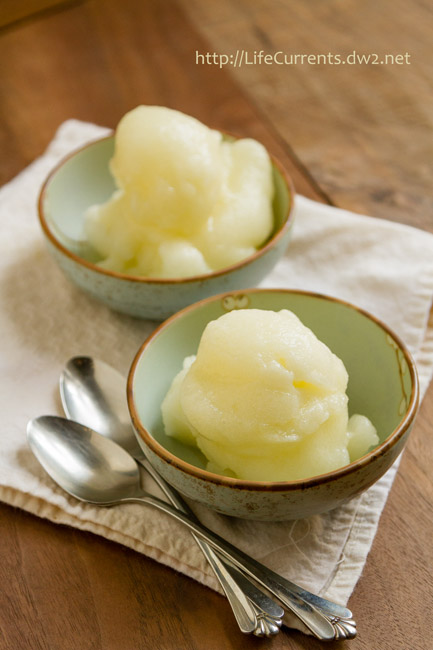 This Sauvignon Blanc Sorbet is just the thing to cool you down. It's light and refreshing. It's filled with flavor but won't weigh you down. by Life Currents https://lifecurrentsblog.com