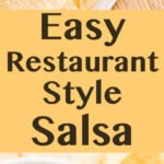 Easy Restaurant Style Salsa is made with canned crushed tomatoes so it's super easy to whip together http://lifecurrentsblog.com