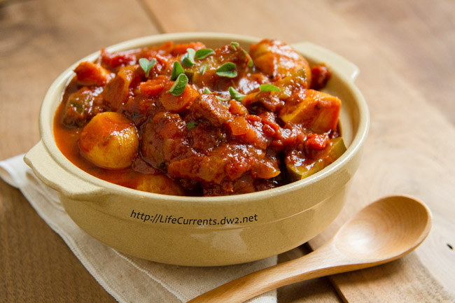 Provencal Veggie Stew delicious comfort food that happens to be healthy as well! Dive in! by Life Currents https://lifecurrentsblog.com/