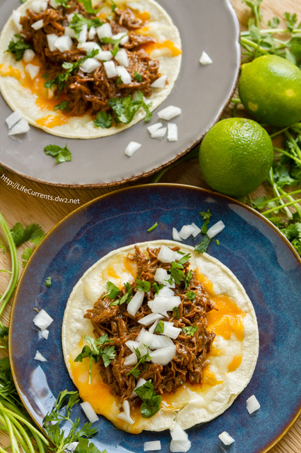 Crock Pot or Slow Cooker Mexican Carne Asada for October is Tailgating Snacks Month - perfect for tacos, burritos, nachos, tostadas, anything!