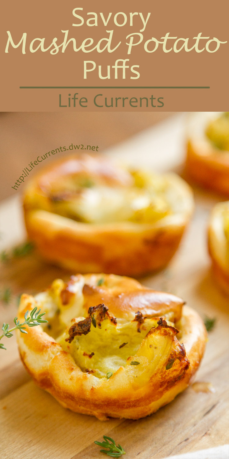 These Savory Mashed Potato Puffs are sort of little Yorkshire puddings stuffed with mashed potatoes. A really yummy and fun side dish.