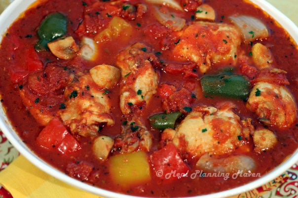 Easy Crock Pot (Slow Cooker) Meals - Crockpot Chicken Cacciatore-a Long Time Family Favorite