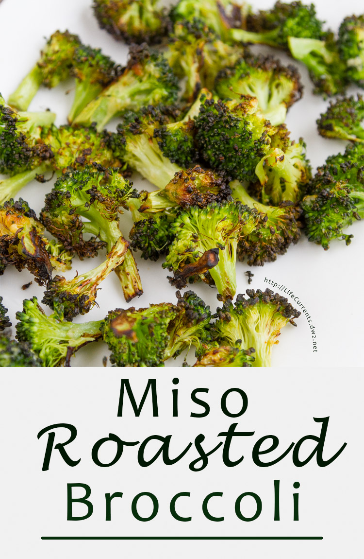 Miso Roasted Broccoli - a simple and delicious side dish that takes just 10 minutes to roast and is super quick to put together