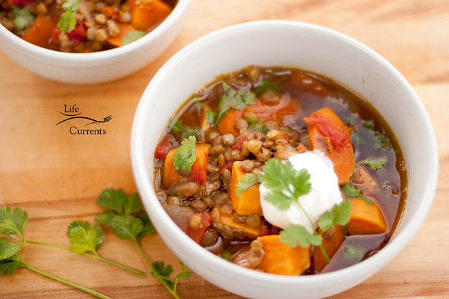 Lentil and Sweet Potato Stew - I love a good healthy and easy meal.