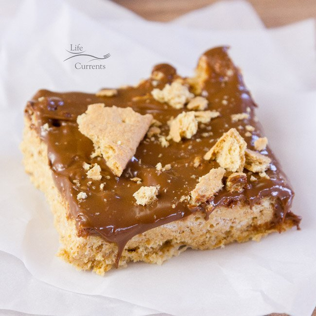 S'mores Krispie Treats - perfect fun for any party, potluck, or gathering. Kids and adults are all going to love these!