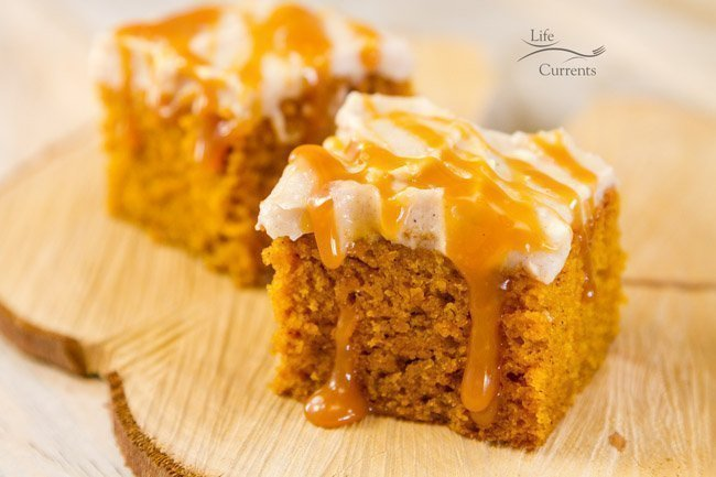 Pumpkin Lasagna with Roasted Butternut Squash featured recipe for Pumpkin Spice Cake with Apple Butter Cream Cheese Frosting - a few of my friends got together and are sharing AMAZING desserts today