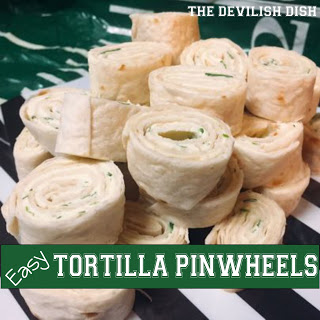 October is Tailgating Snacks Month 2017 - Easy Tortilla Pinwheels