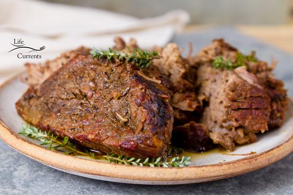 Smokehouse style slow cooker crock pot beef