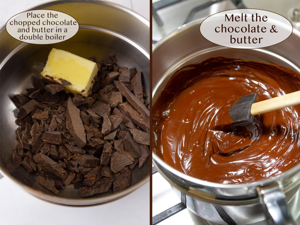 how to make hot fudge sauce melting chocolate and butter