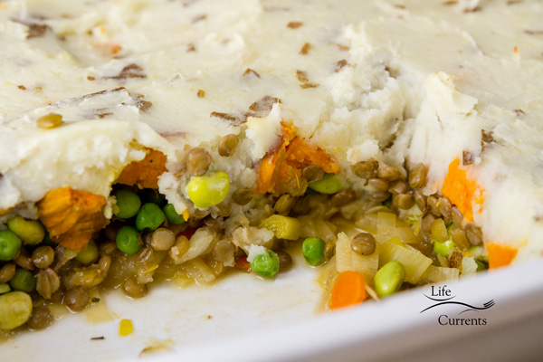 Vegetarian Shepherd's Pie makes a nice big casserole for several meals worth of delicious food