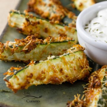 These Healthy Baked Parmesan Zucchini Fries are easy to make and delicious! And, can be used for appetizers or as a side dish for burger night.