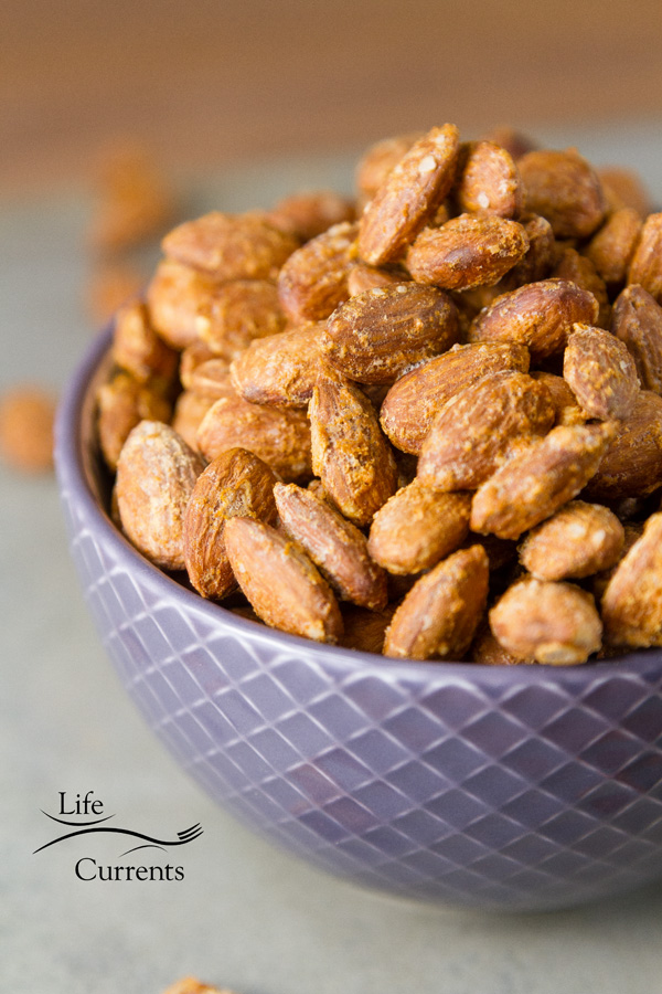 take these Smoked Garlic Almonds to a party and you'll be the most popular person there
