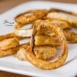 Crispy crunchy Homemade Oven Baked Onion Rings are made with just a few simple ingredients, and much healthier than the fried version