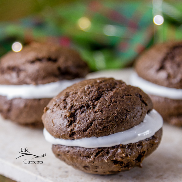 Chocolate Marshmallow Moonpies perfect for holiday cookie exchanges