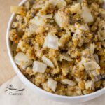 Vegetarian Crock Pot Stuffing - You can even mix it all up the night before and take it out to cook on Thanksgiving Day.