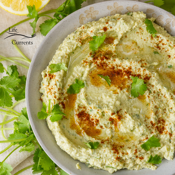 Roasted Jalapeño and Avocado Hummus Better-for-you snacking