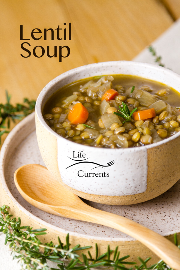 This delicious gluten-free, fiber-rich, vegetarian Lentil Soup is one of my favorite easy to make soups!