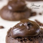 Brownie Cookies with Mocha Frosting - Soft delicious dark chocolate cookies topped with luscious creamy dreamy coffee chocolate frosting. Oh my gosh these cookies are the things that dreams are made of.