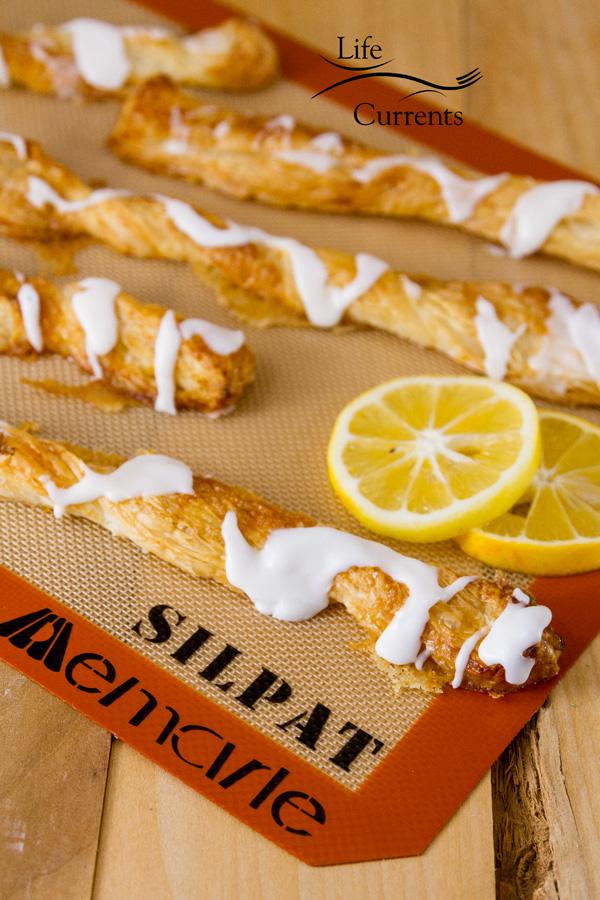Lemon Sticks baked on Silpat mats