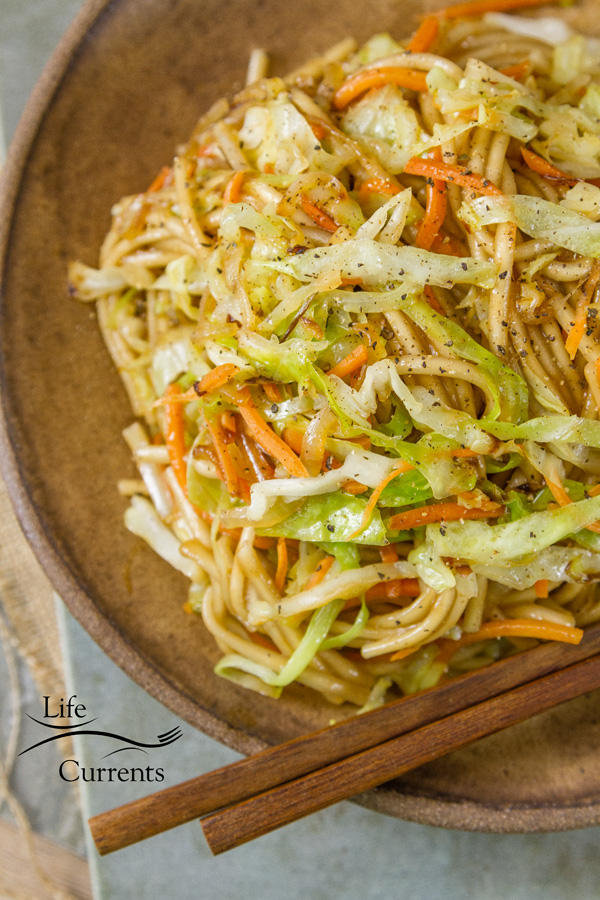 Udon Noodle Salad Quick and easy to make, and super delicious, just like your favorite take-out place, only so much better tasting and better for you.