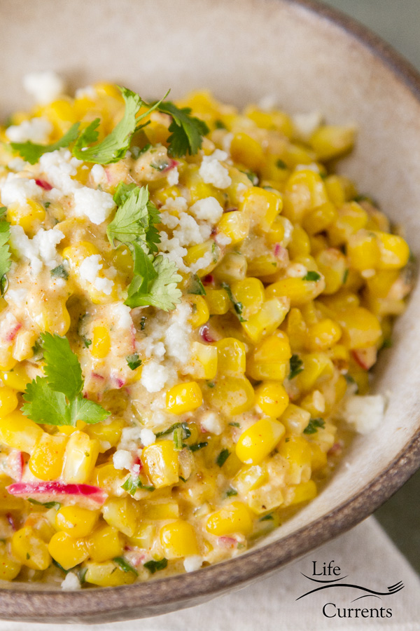 Mexican Street Corn Salad (esquites) – use frozen corn for ease, or use fresh corn on the cob when it's in season