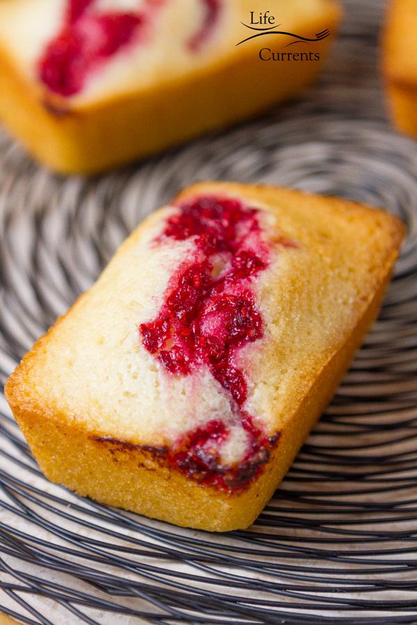 Lovely tea cakes for tea time almond cakes with raspberry swirl