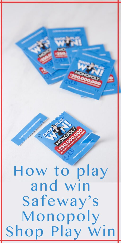 Game pieces for How to play and win Safeway Monopoly Shop Play Win