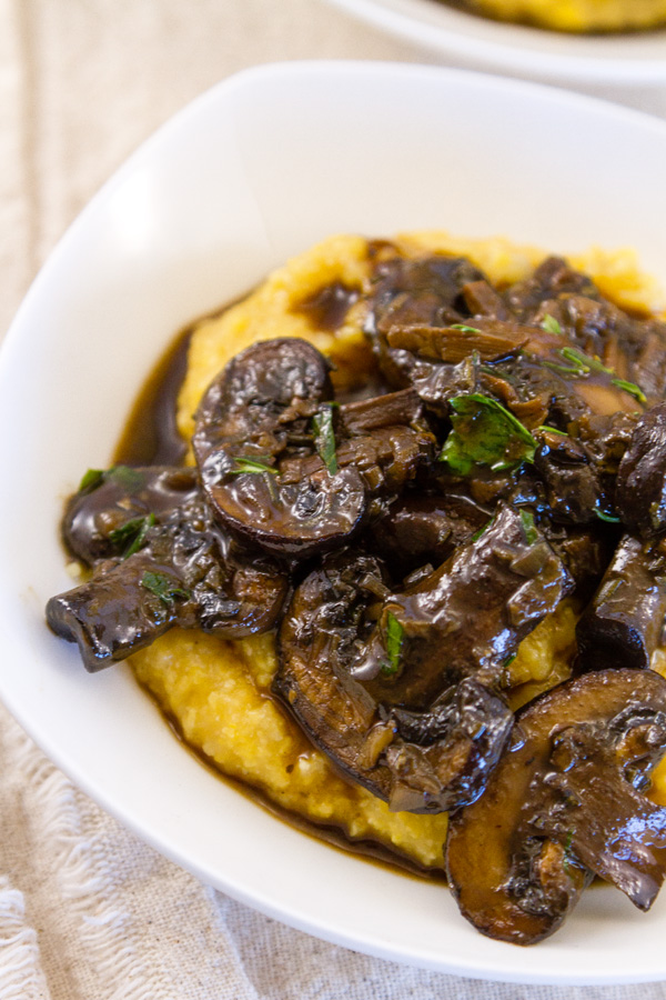 close up of Mushroom Ragout in a bowl
