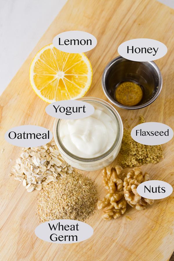 ingredients in this breakfast yogurt, all labeled