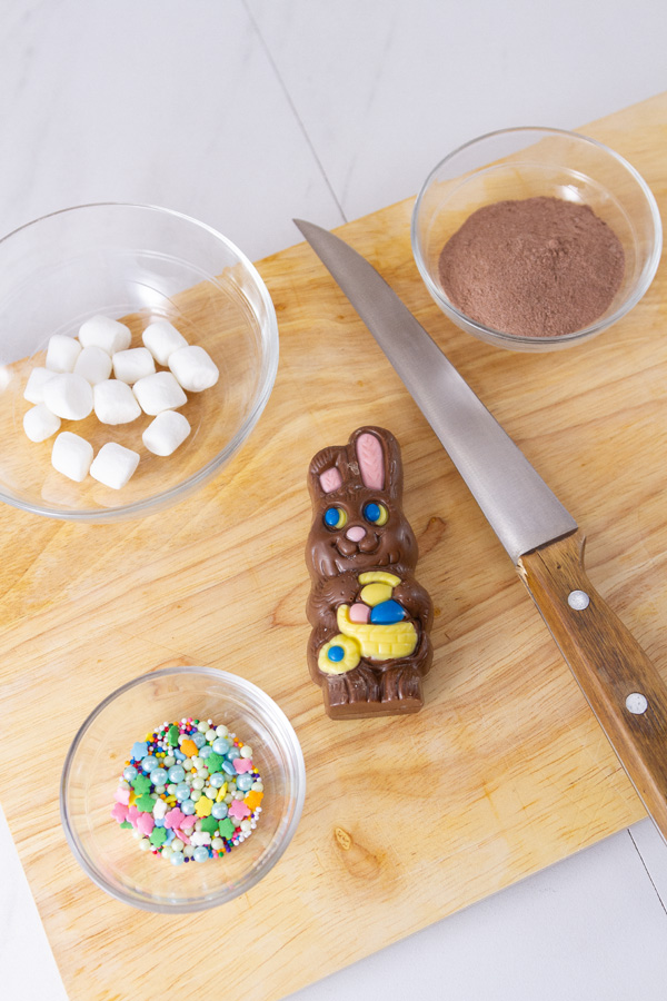supplies needs to make Easter Cocoa Bombs