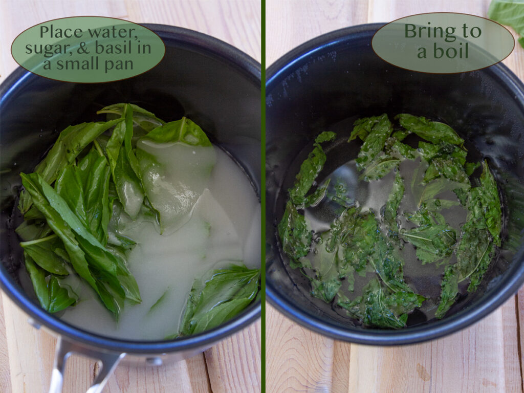 how to make basil simple syrup
