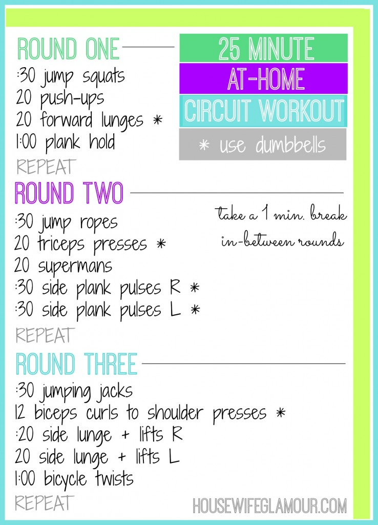 25 Min At Home Circuit Workout Life In Leggings
