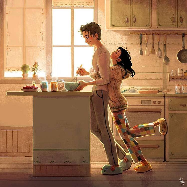 Beautiful Love Illustrations Captures Daily Experience of ...