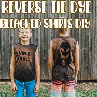 Bleached T-Shirts Reverse Tie Dye