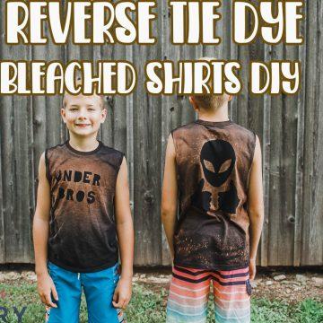 Reverse dye bleached shirts DIY