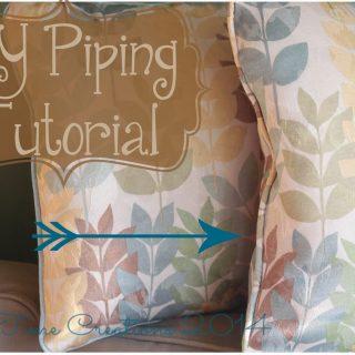 DIY Piping Sewing Tutorial + Video