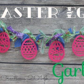 Easter egg garland