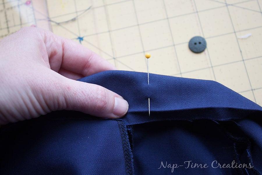 sewing an adjustable waistband