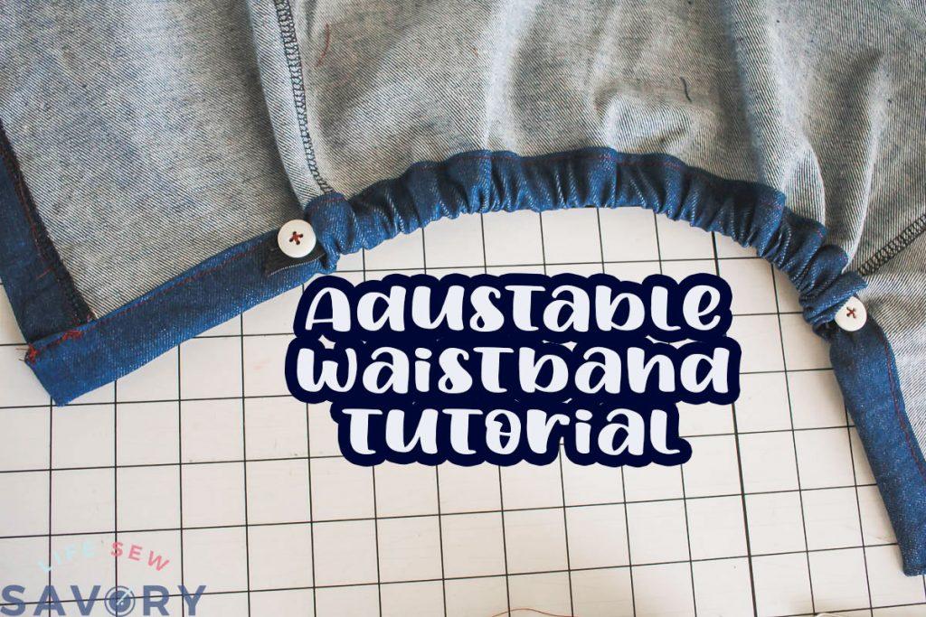 adjustable waistband tutorial