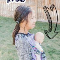 free doll carrier for kids sewing pattern
