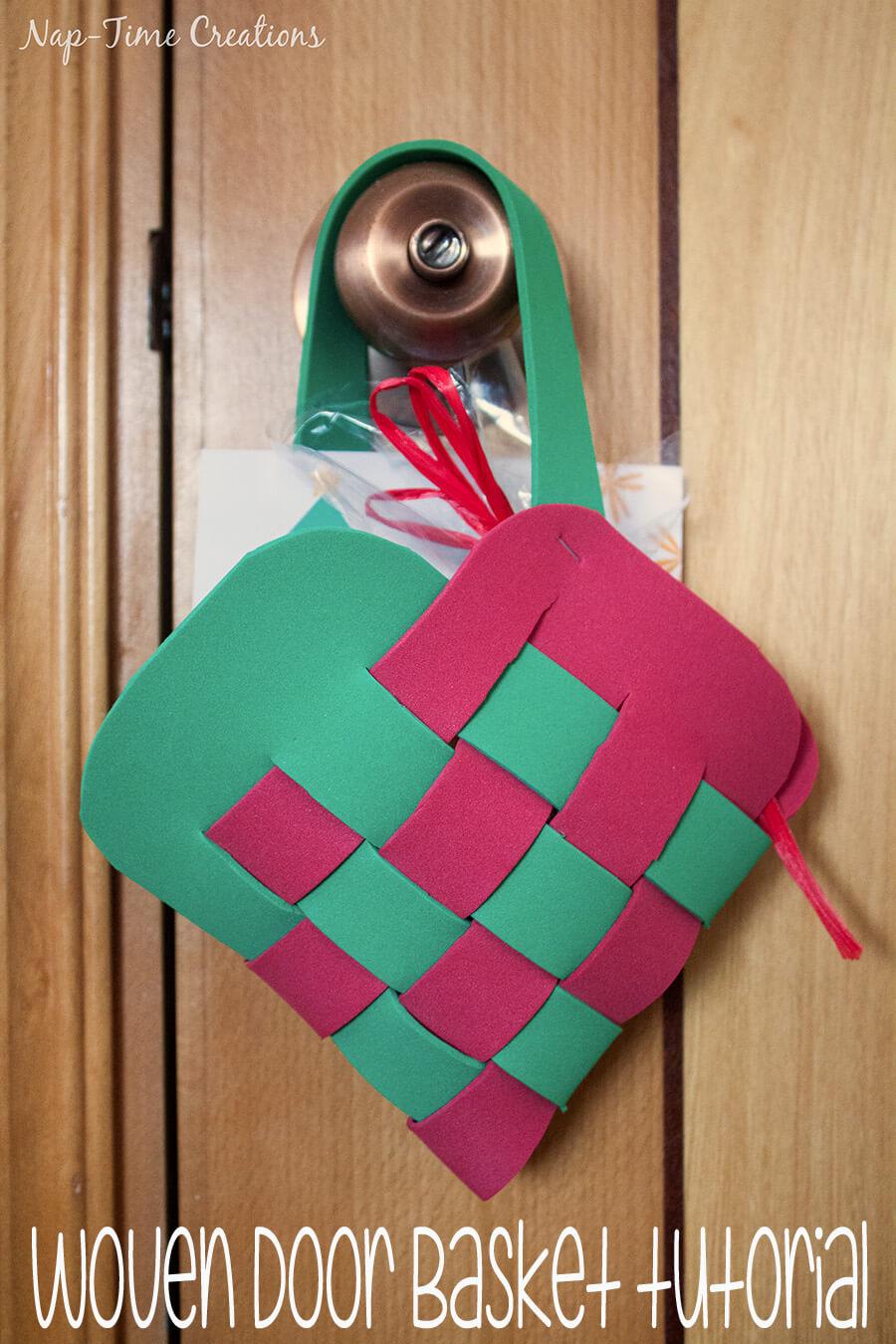 Woven Door Basket for #Spread Cheer 3