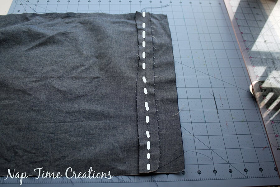 zipper pillowcase sewing tutorial