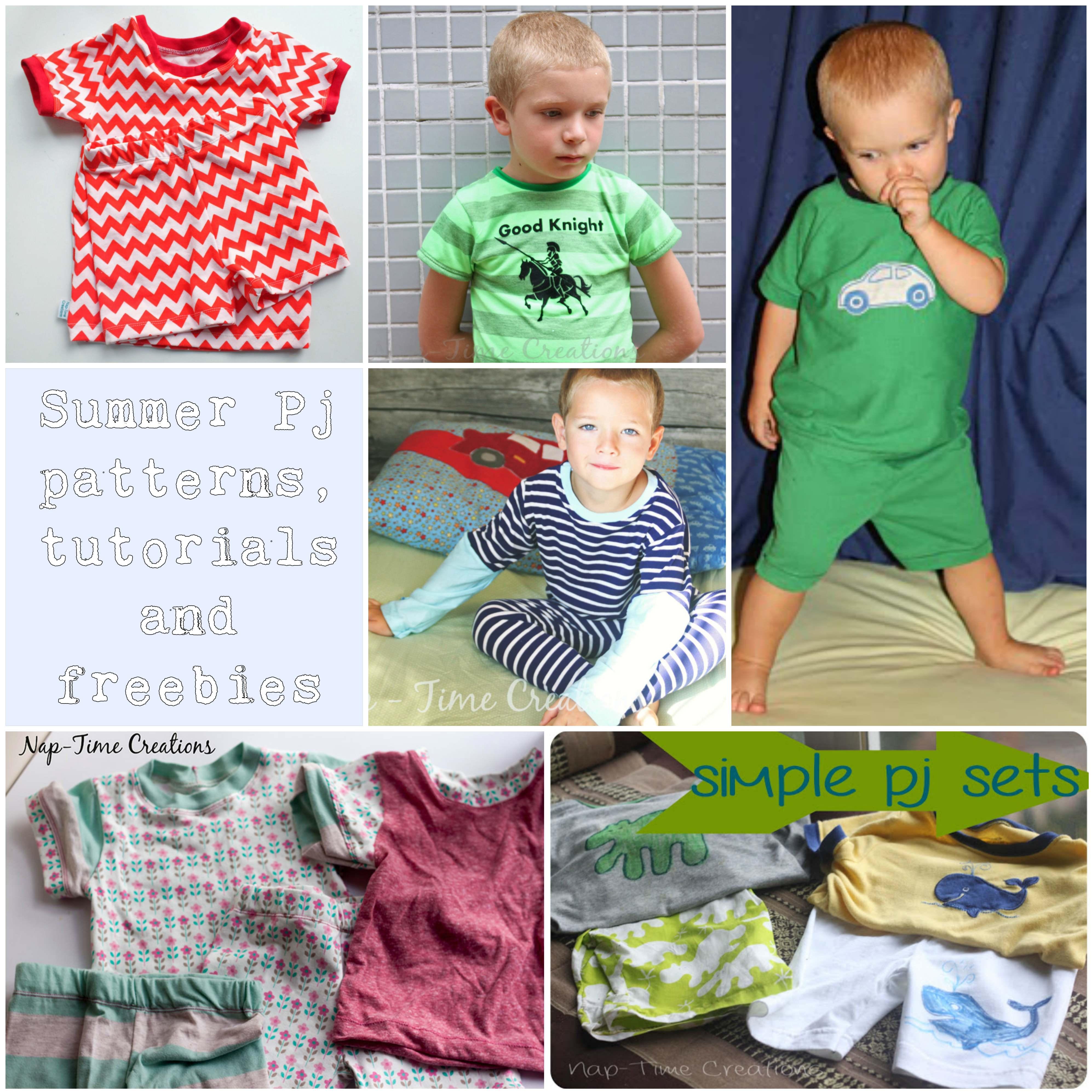 summer pj patterns tutorials and freebies for kids