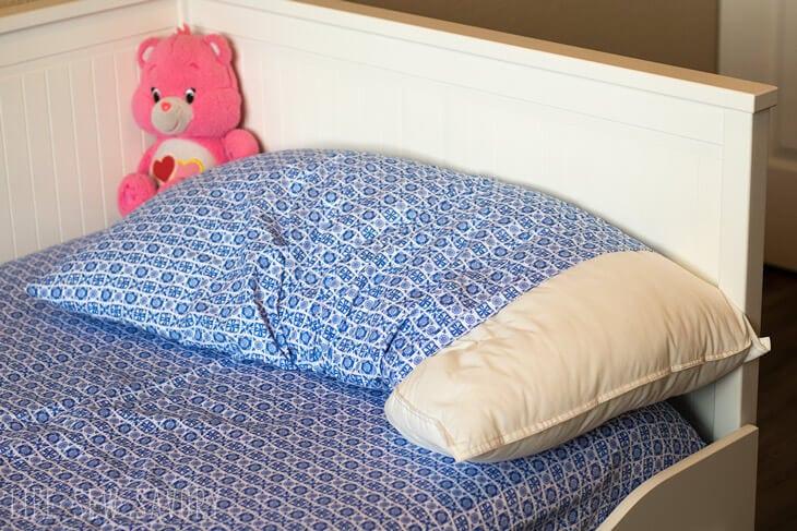 Kids Pillow Case Fix easy no sew tutorial