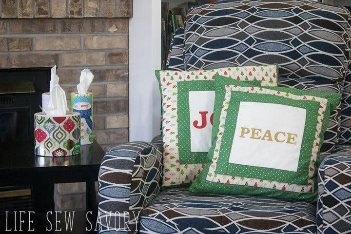 DIY CHristmas decor Pillows