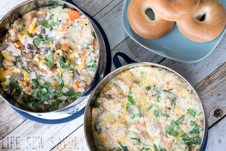 Instant pot breakfast casserole two ways