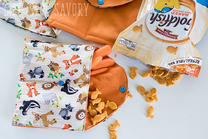Reusable snack bags sewing tutorial