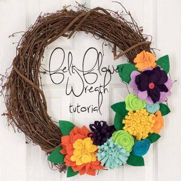 felt flower wreath social promo image