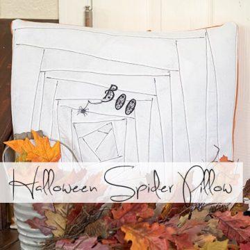 Halloween spider pillow